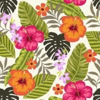Tropical Fiesta, Wallpaper Tiles - Tropical - Wallpaper ...