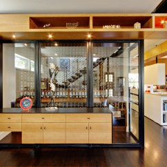 Kitchen Cabinet Inserts Ideas Island Large West 8th Street House - Modern Wine Cellar Austin By ...