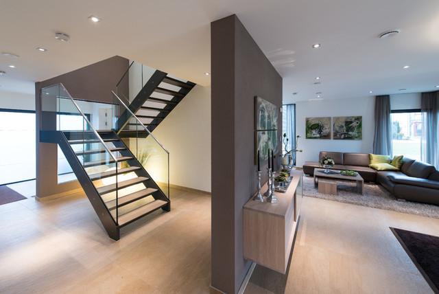 Treppengelander Innen Holz Bauhaus Treppenhaus Beleuchtung Ein