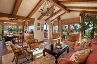 Spanish Revival Residence - Mediterranean - Living Room ...