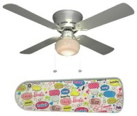 "Barbie Says 42"" Ceiling Fan and Lamp - Contemporary ..."