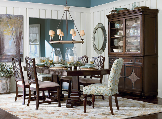 Moultrie Park Double Pedestal Dining Table by Bassett Furniture  Traditional  Dining Room  by