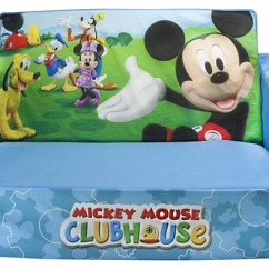 Mickey Mouse Clubhouse Flip Open Sofa With Slumber Bed Black 3 Seater And Cuddle Chair Flip-open ...