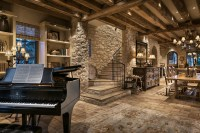 Library with Grand Piano - Rustic - Dining Room - Phoenix ...