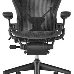 Herman Miller Aeron Chair Size B Reviews Modern Orange Leather Fully Loaded With Posturefit Black Mesh Contemporary Office Chairs By In Style