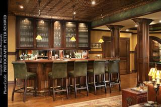 Pub Bar  Traditional  Basement  New York  by Carisa