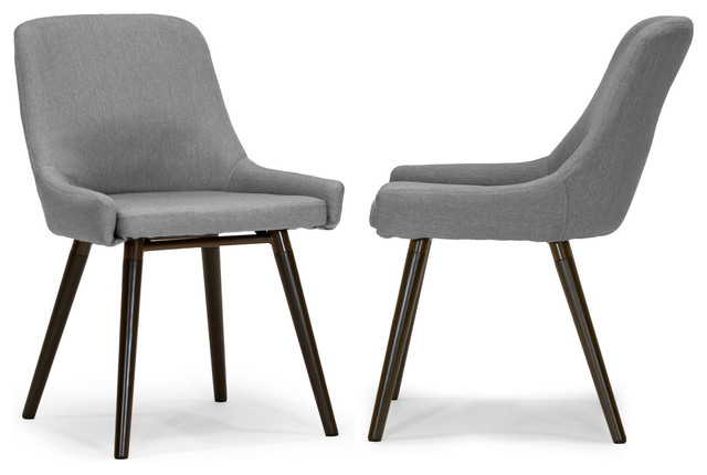 modern gray dining chairs blue and white accent chair target ade fabric with beech legs set of 2 midcentury by glamour home