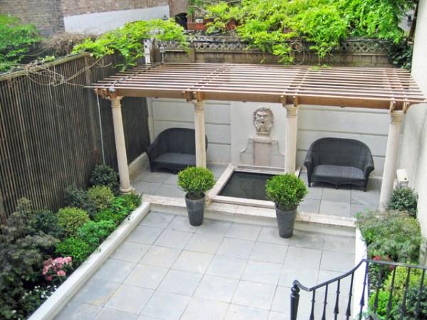 nyc townhouse garden backyard