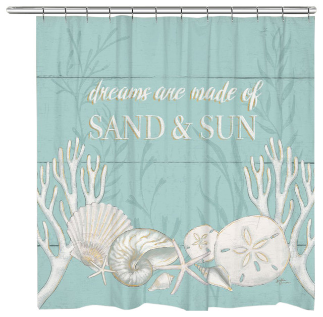 sand and sun shower curtain