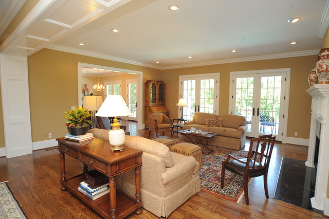 Warm inviting living room  Traditional  Living Room  Other  by Craftsman Builders Inc