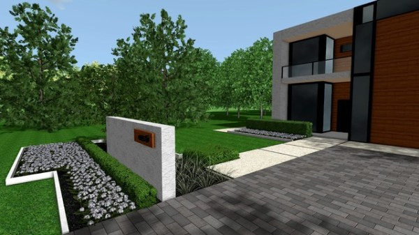 contemporary modern front yard