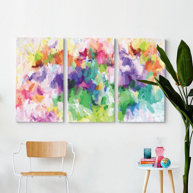 rainbow bright triptych wall art