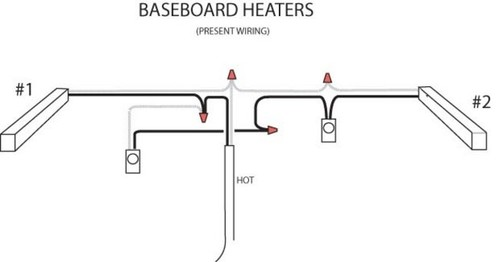 diagram diagram baseboard heater thermostat wiring diagram