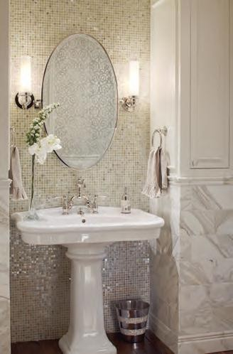 country french side chairs revolving chair with backrest gets fresh (co homes & lifestyles august 2012) - traditional powder room ...