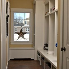 Industrial Kitchen Stools Movable Cabinets Mudroom Lockers And Storage Bench - Craftsman Hall ...