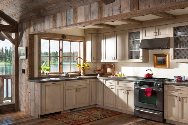 Montana Retreat Renovation rustic-kitchen
