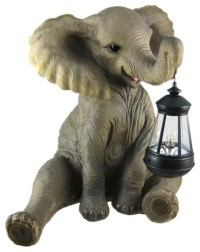 Zeckos - Cute African Elephant Porch Garden Statue With ...
