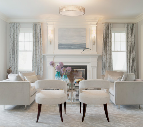 Neutral all-white living room (Intense White)
