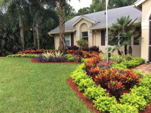colorful curb appeal - tropical