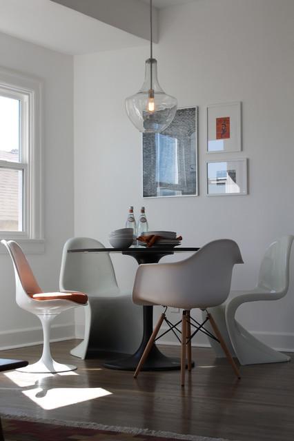 Panton Saarinen And Eames Chairs With Saarinen Table And