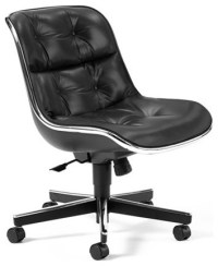 Charles Pollock Executive Armless Conference Chair with ...