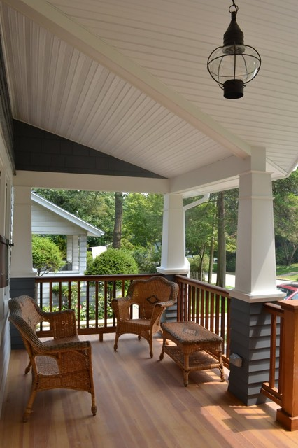 North Shore Long Island  Craftsman  Porch  New York