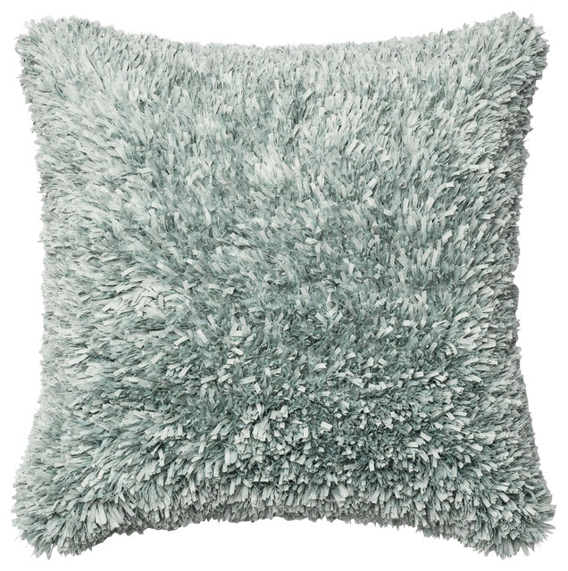 100 polyester double sided ribbon shag decorative throw pillow by loloi lt bl