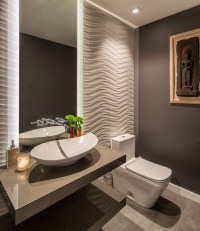 Contemporary Hillside Home - Contemporary - Powder Room ...