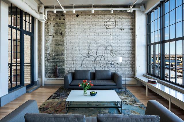 Graffiti Wall art  Industrial  Living Room  Minneapolis  by MSR Design
