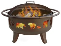 Patio Lights Bears & Paw Fire Pit - Contemporary - Fire ...