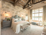 farmhouse-bedroom Stylish Feature Walls Star in the Most Popular Bedrooms  upholstery in clapham junction