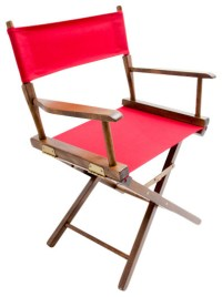 """Gold Medal 18"""" Walnut Commercial Director's Chair ..."""