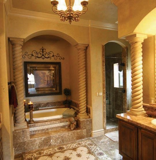 Pillar Candle Holders For Fireplace Fireplace Design Ideas Mediterranian Bathroom -rope Columns By Realm Of Design