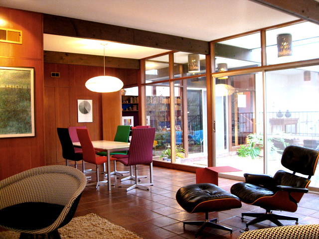 1960's Architect's Home Refurbished With Color Textiles And