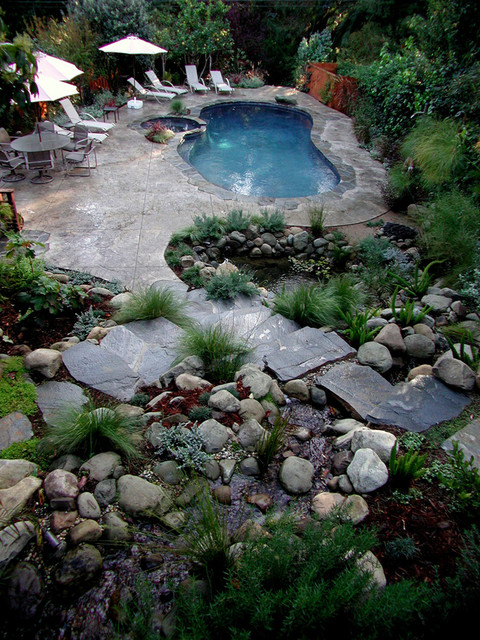 Swimming Pools  Rustic  Pool  Los Angeles  by Stout DesignBuild