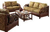 Cancun Palm 5 Piece. Tropical Rattan Living Room Set by ...