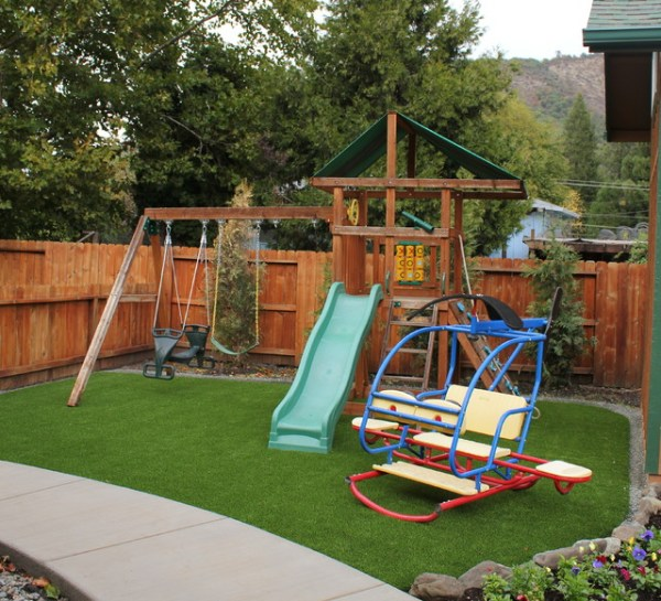 bend backyard playground grass
