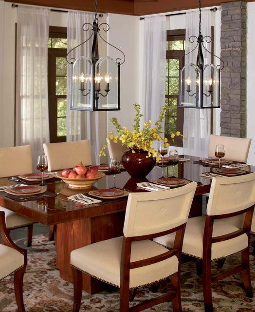 Quoizel Double Chandeliers  Traditional  Dining Room