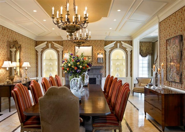 French Chateau Traditional Dining Room Chicago By