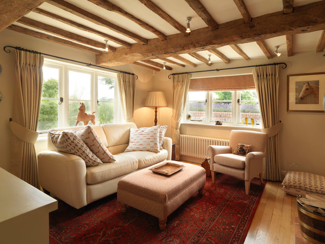 cosy living room with log burner images of painting designs 17th century thatched cottage - country ...
