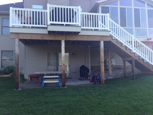 landscaping raised deck