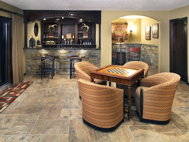 It's computerized to eliminate hu. Bar & Game Room - Traditional - Family Room - Omaha - by ...