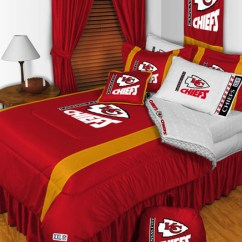 Modern Farmhouse Living Room Curtains Decorating Ideas For Small Nfl Kansas City Chiefs Bedding And Decorations ...