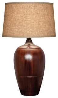 Haze Desert Table Lamp With Shade, Mahogany Dark
