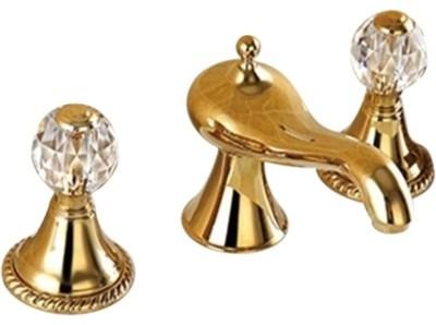 molino bathroom widespread lavatory sink faucet crystal handles gold finish