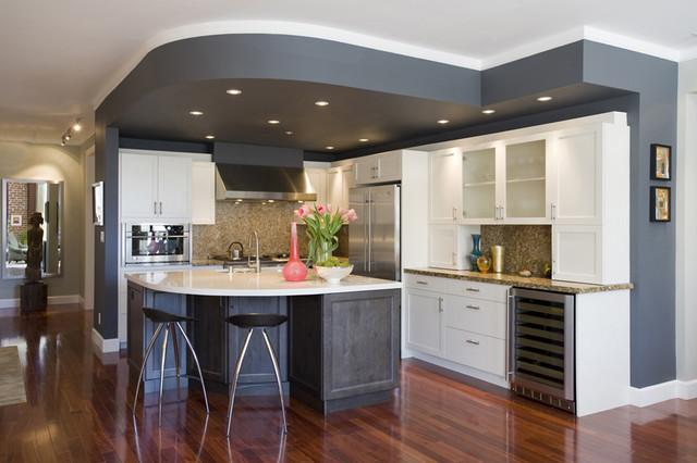 tv wall unit design for living room modern shelving units noe valley kitchen - transitional san ...