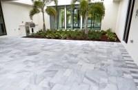 Carrera White Marble Pool Deck Pavers - Modern - Patio ...