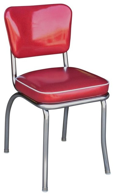 red kitchen chairs melissa & doug glitter sparkle retro chrome chair contemporary dining by richardson seating