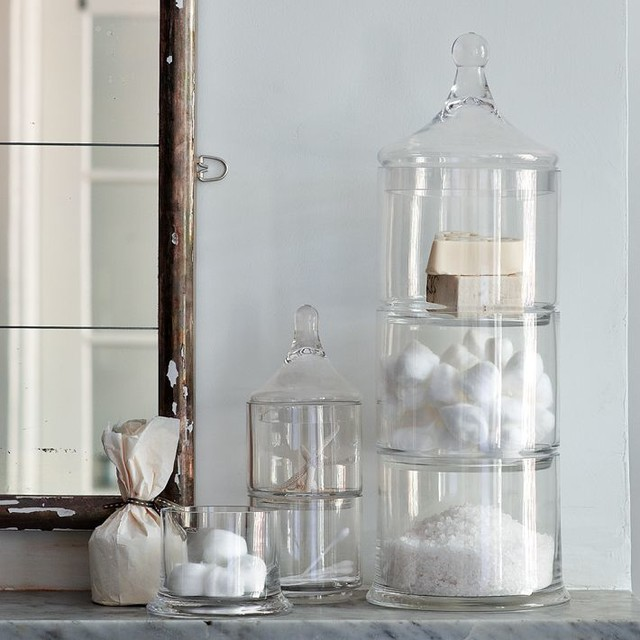 Stacked Apothecary Jars  Traditional  Bathroom Canisters  by West Elm