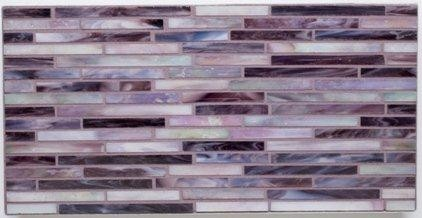 Gigis Groovy Stixx AlysEdwards Glass Tile Purple Haze  Eclectic  Tile  by Mission Stone Tile